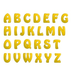 Yellow shiny letters holiday fonts vector