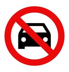 No car or no parking sign vector