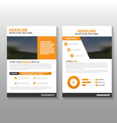 Orange annual report leaflet brochure flyer vector