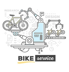Creative professional mechanism of bike s vector