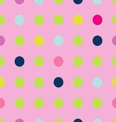 Bright polka dot pattern vector