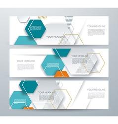 brochure template design with paper hexagones vector image vector image