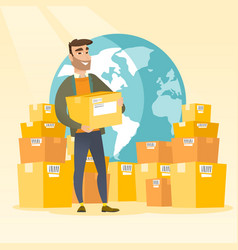 business worker of international delivery service vector image