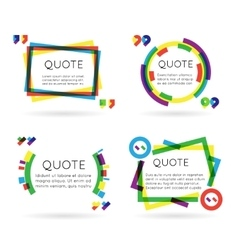 Colorful quote template information text blog vector