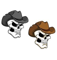 Cowboy skull vector image vector image