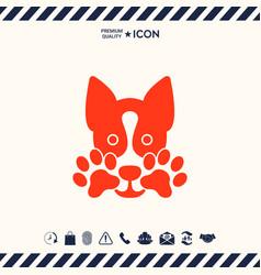 Cute dog paw - logo symbol protect sign vector