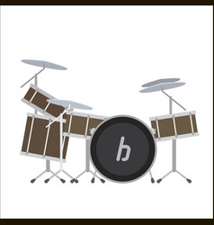 Electronic drum system vector