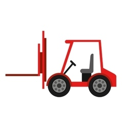 Forklift truck isolated icon design vector