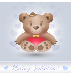 Gentle teddy bear boy in love vector