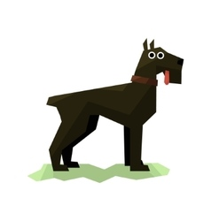 Giant schnauzer black dog vector