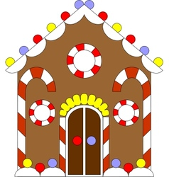 Gingerbread house color 02 vector