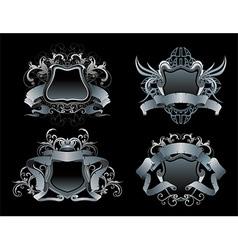 Heraldry design set vector