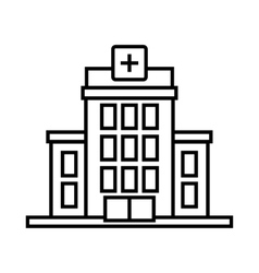 Hospital icon outline style vector image