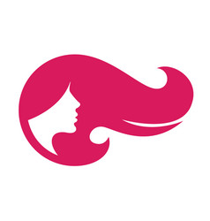 logo for woman salons and shops vector image vector image