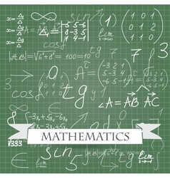 mathematics vector image