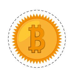 Money bitcoin golden commerce vector