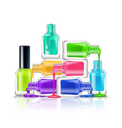 Nail polish composition vector