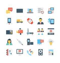Network and communications icons 4 vector