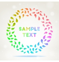 Ornamental colourful frame vector
