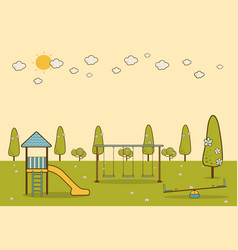 Playground in a city park vector