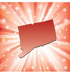 Red Connecticut vector image vector image