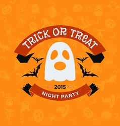 Retro Vintage Happy Halloween Badge Night Party vector image