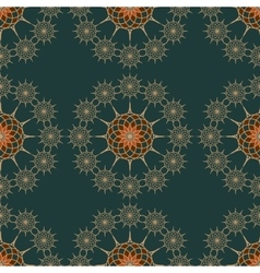 seamless pattern on a dark green background vector image vector image