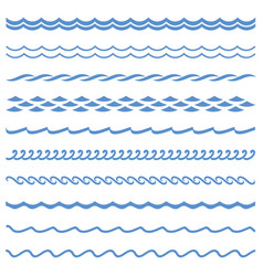 seamless wave line vector image