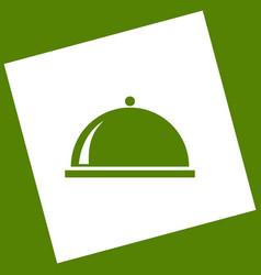 Server sign white icon vector