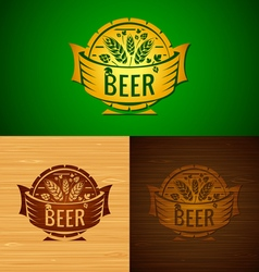 Set of templates beer emblem vector