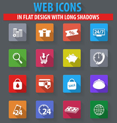 Shopping marketing and e-commerce icon set vector
