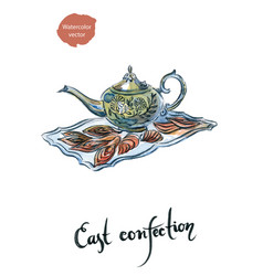 Watercolor east confection vector
