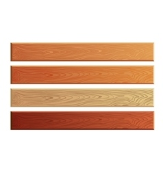 Wood planks with wooden texture set vector