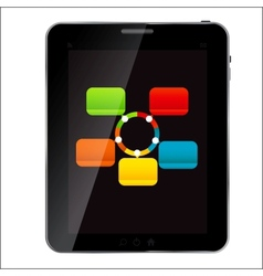 Abstract design tablet for different business vector