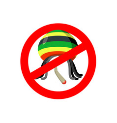Stop rastaman prohibited stoned drug man dangers vector