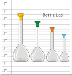 Laboratory glass on paper vector