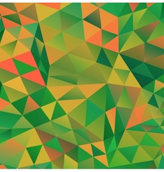 Abstract Green Triangle Background vector image
