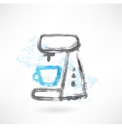 Coffee maker grunge icon vector