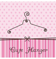 Cute hanger vector
