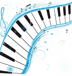 Winter music vector