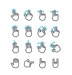 Basic human gestures using modern digital devices vector