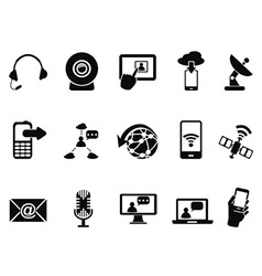 Modern communication icons set vector