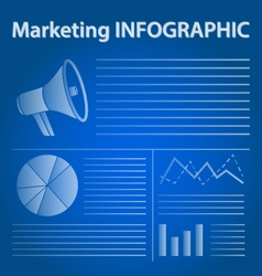 Blue marketing infographic concept vector