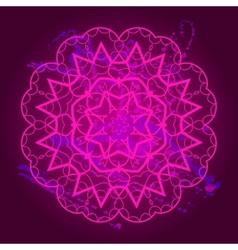 What is karma Oriental mandala motif vector image