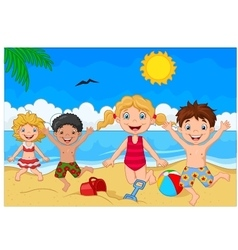 Cartoon summer day vector