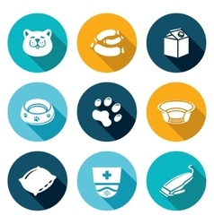 Cat icons set vector