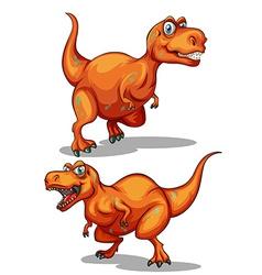 Dinosaur with sharp teeth vector