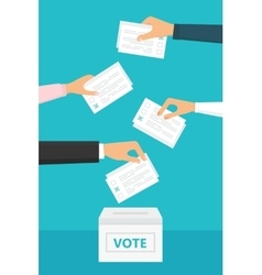 People vote at election vector
