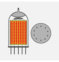 color icon with radio tubes vector image