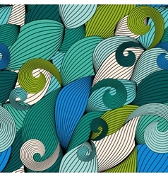 Abstract Wave Seamless Pattern Background vector image